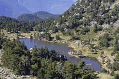Lac Achard landscape. Lac Achard, in Chamrousse mountain range Stock Images
