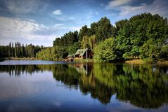 Lac agréable Images libres de droits