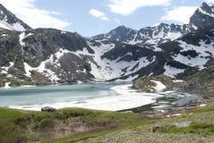 Lac Akchan, bâti Colban, République mountain d'Altai Photos stock