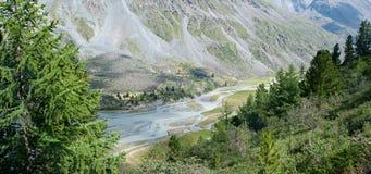Lac Akkem valley Images libres de droits