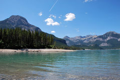 Lac Alberta barrier Photo stock