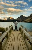 Lac Alberta bow photographie stock