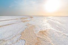 Lac ale de cul, dans la dépression de Danakil photos stock