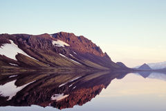 Lac Alftavatn, Islande Photos stock