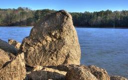 Lac Allatoona, parc d'état de montagne d'agrostide blanche, la Géorgie, Etats-Unis Photographie stock