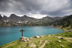 Lac Allos Images stock