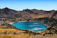 Lac Allos (laque d'Allos) Photographie stock libre de droits