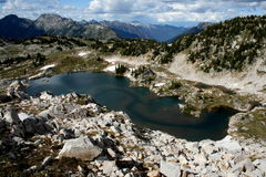 Lac alpestre Photo libre de droits