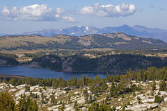 Lac alpestre mountains de Beartooth Images stock