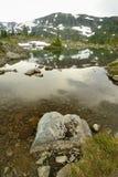 Lac alpin Images libres de droits