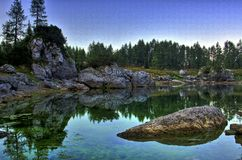 Lac alpin III Image stock