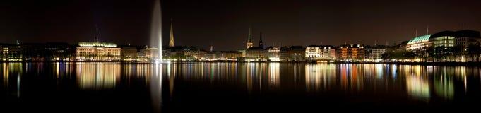 Lac Alster à Hambourg Photographie stock libre de droits