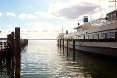Lac Ammersee près de Munich, bateaux touristiques Photo libre de droits