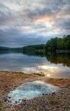 Lac après pluie image stock