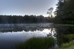 Lac argenté à l'aube Images stock