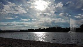 Lac argenté, Serbie images libres de droits