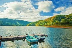 Lac artificiel Hanabanilla en villa Clara, Cuba image libre de droits