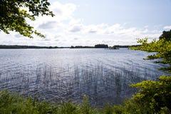 Lac Asnen en Suède Photo stock