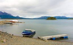 Lac Atlin pendant le printemps Images stock