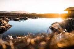 Lac Attlesee dans l'Allgäu photographie stock libre de droits