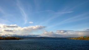 lac au-dessus de vue Images libres de droits