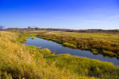 Lac au milieu des champs Images stock