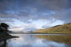 Lac au parc national de Connemara, comté Galway Images libres de droits