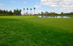 Lac au parcours ouvert vert Photos libres de droits