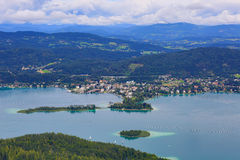 Lac Autriche Worthersee Image stock