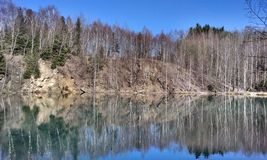 Lac autumn Photo stock