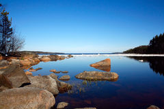 Lac avec la banquise Image stock