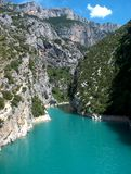 Lac azuré Photo libre de droits