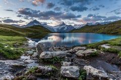 Lac Bachalpsee le matin Photo libre de droits