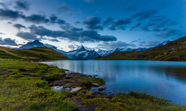 Lac Bachalpsee le matin Image libre de droits