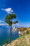 Lac Baikal Île d'Olkhon cap Burkhan Photos stock