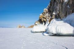 Lac Baikal en hiver Photo libre de droits