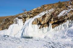 Lac Baikal en hiver Image libre de droits