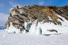 Lac Baikal en hiver images libres de droits