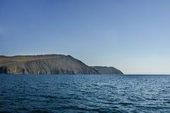 Lac Baikal près de villahe de Khuzhir à l'île d'Olkhon en Sibérie, Russie Image stock