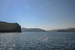 Lac Baikal près de villahe de Khuzhir à l'île d'Olkhon en Sibérie, Russie Photo libre de droits
