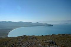 Lac Baikal près de villahe de Khuzhir à l'île d'Olkhon en Sibérie, Russie Images stock
