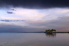 Lac Balaton au coucher du soleil hungary image libre de droits
