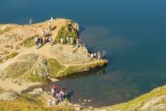Lac Balea en Roumanie photos stock