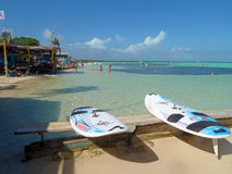 Lac Bay Sorobon beach in Bonaire, Caribbean Stock Images