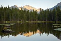 Lac bear au lever de soleil