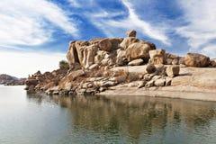 Lac beauty dans Hampi photographie stock libre de droits