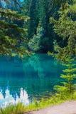 Lac Beauvert, национальный парк яшмы Стоковые Изображения RF