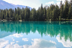 Lac Beauvert, Jasper national park Stock Image