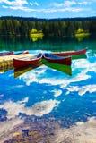 Lac Beauvert, Jasper national park Royalty Free Stock Photos