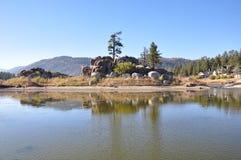 Lac big Bear, la Californie Images libres de droits